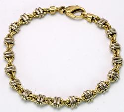 18KT Yellow Gold Heavy Link Bracelet