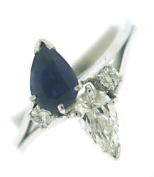 VS Diamond & Sapphire Bypass Ring