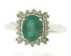 Gorgeous Emerald Diamond Halo Ring