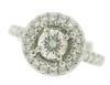 Gorgeous Platinum RBC Diamond Engagement Ring
