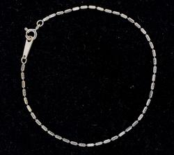 18KT White Gold Beaded Bracelet