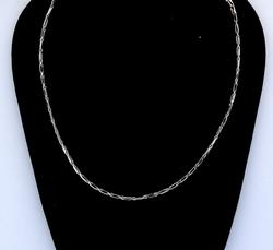 14KT White Gold Chain, 18 inches
