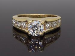 14K Yellow Gold 1.55CTW Engagement Ring