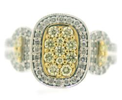 Brilliant Yellow and White Diamond Ring