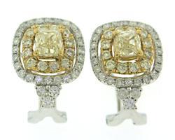 Masterpiece Yellow Diamond and White Diamond Earrings