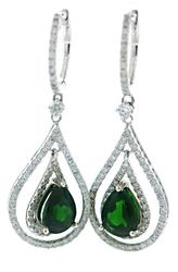 Glamorous Russalite and Diamond Double Teardrop