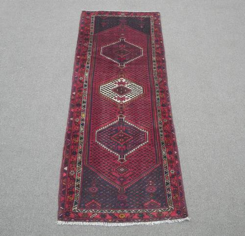 Semi Antique Persian Hamedan 9.6x3.5
