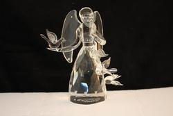 Loving Crystal Angel with Doves