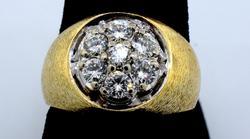 Men's Diamond Cluster Ring in Gold