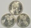 3 Super Choice BU 1881-S Morgan Silver Dollars