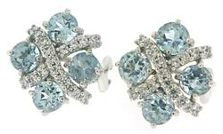 Judith Ripka Blue Cubic Zirconia Earrings