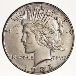 1935 Peace Silver Dollar - Circulated