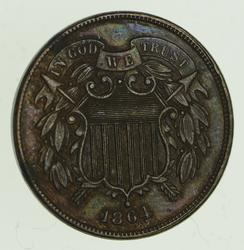 1864 Two-Cent Piece - First Coin With
