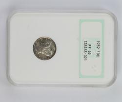 PF65 1939 Mercury Silver Dime - NGC Graded