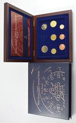 2003 Portugal 8 Coin Proof Set - With CoA & Wooden Display Box