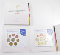 2003 Germany Collection of 5 Euro German Mint Mark Sets - 40 Coins!