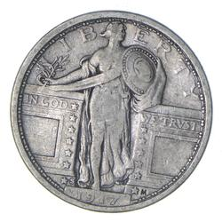 1917-S Standing Liberty Silver Quarter - Type 1 - Circulated