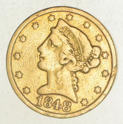 1848-C $5.00 Liberty Head Gold Half Eagle