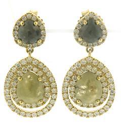 Luxurious Fancy Color Diamond Earrings
