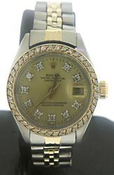 Rolex Datejust Diamond Dial & Bezel Ladies Watch