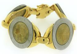 Gold Plated Coin Bracelet