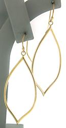 Simple Open Gold Dangle Earrings
