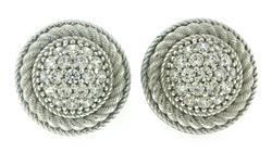 Judith Ripka Pave CZ Earrings