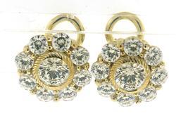 Judith Ripka CZ Cluster Earrings