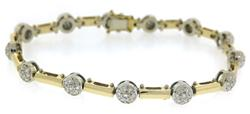 Gorgeous Diamond Cluster Station Bracelet