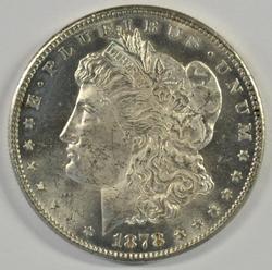 Cameo Prooflike Obv BU 1878-S Morgan Silver Dollar