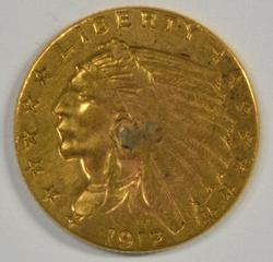 1912 US $2.50 Indian Gold Piece