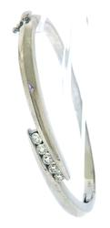 Elegant apx 0.85ct Diamond Bypass Bangle Bracelet