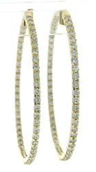 Remarkable in out Diamond Hoop Earrings