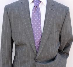 Phenomenal 2-Button Pin-Stripe Suit, Made In Italy