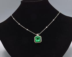 Fancy 750KT Pendant and Chain