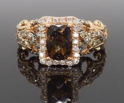 Le Vian Quartz and Diamond Ring