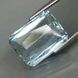 Vivid platinum blue 9.58ct untreated Aquamarine