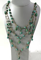 Turquoise and Horseshoe Necklace