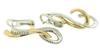 Gorgeous 2 Tone Gold Diamond Swirl Earrings