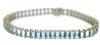 Gorgeous Blue Topaz Baguette Diamond Bracelet