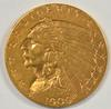 Lovely 1909 US $2.50 Indian Gold Piece. Nice