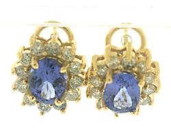 You Must Have Oval Tanzanite and Diamond Earrings