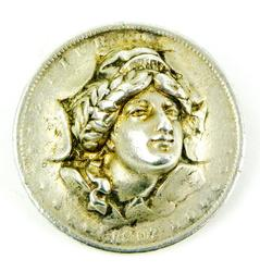 1902 Blown Out Silver Morgan Dollar Brooch
