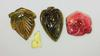 Intense Natural Color Carved Tourmaline Lot of 4