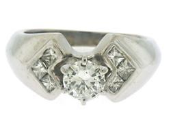 Geometric Look Multi Diamond Ring