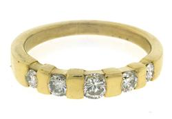 18kt Channel 5 Diamond Band Ring