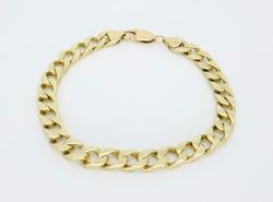 Curb Bracelet Solid 14K Yellow Gold