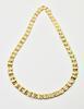 Beautiful 18K Wide Link Necklace
