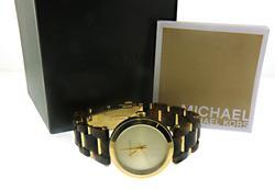 Michael Kors Delray Tort Gold Tone Dial Watch