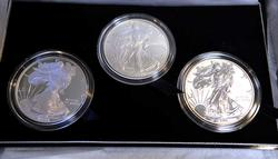 2006 Silver Eagle 3 Coin Anniversary Set, w Reverse Proof